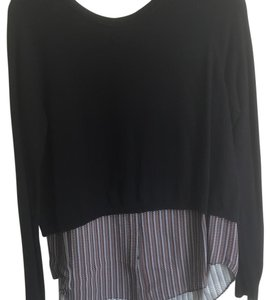 Addison Black Saks Layered Sweater