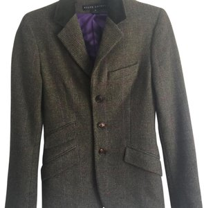 Ralph Lauren Black Label Tweed Jacket Green Blazer