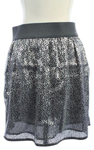 Gap Gray Sequins Dress Mini Skirt Silver