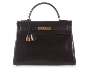 Hermès Hr.k0720.02 Brown Box Leather Satchel