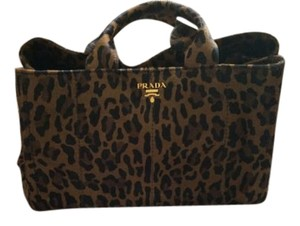 Prada Tote Leopard Satchel in animal print