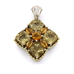 Lagos Lagos Caviar Citrine Astral Pendant in Yellow Gold and Sterling Silver