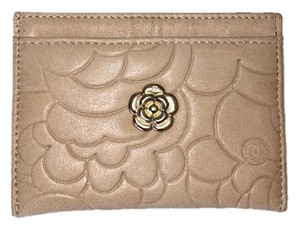 Chanel Nude Beige Leather Card Holder