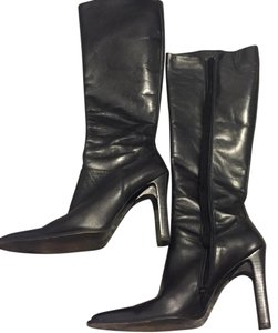Charles David Leather Luxury Sophisticated black Boots