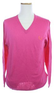 Rafe Raf Simons Fred Perry Vneck Cotton Silk Sweater