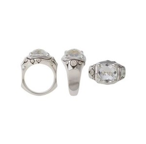 John Hardy size 6, sterling silver, 3.00 ct. t.w. white topaz, solitaire ring