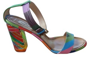 Valentino Chanel Striped Boots Rainbow Sandals