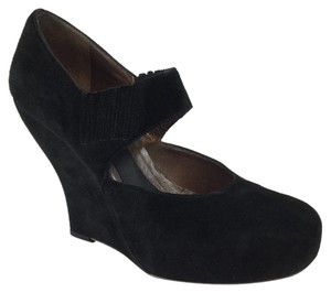 Marni Suede Mary Jane Black Wedges