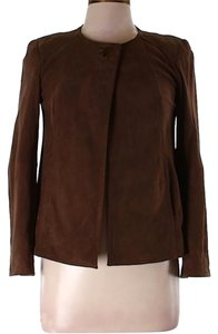 Talbots Suede brown Leather Jacket