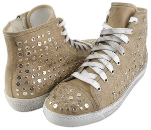 STOKTON Sabbia Italy High Top Sneakers Beige S Athletic