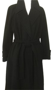 Saks Fifth Avenue Wrap Cashmere Trench Coat