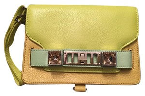 Proenza Schouler Wristlet Yellow/Orange/Mint Clutch