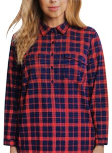 The Limited Flannel Plus-size Tunic