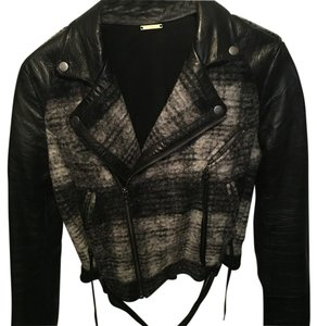 Rebecca Minkoff Black and grey Leather Jacket