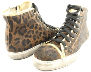 STOKTON High Top Sneakers Eur 40 Animal Print Brown/ Multi Athletic