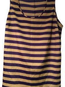 The Limited Striped Tunic Plus-size Top Navy and cream
