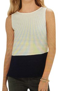The Limited Color-blocking Top White and navy