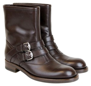Gucci Margarett Leather Brown Boots
