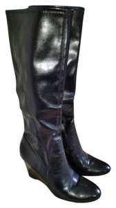 Franco Sarto Tall Wedge Wedge Heels Black Boots