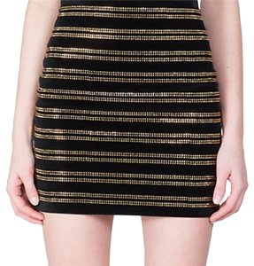 Balmain Mini Skirt Black/gold