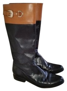Anne Klein Leather Black & Brown Boots