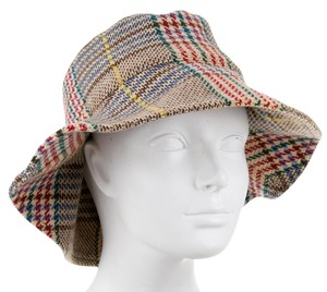 Burberry Red, Multicolor Burberry Wool Nova Check Bucket hat