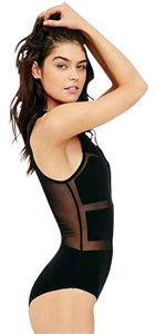 Out From Under Mesh Bodysuit Vegas Top Black