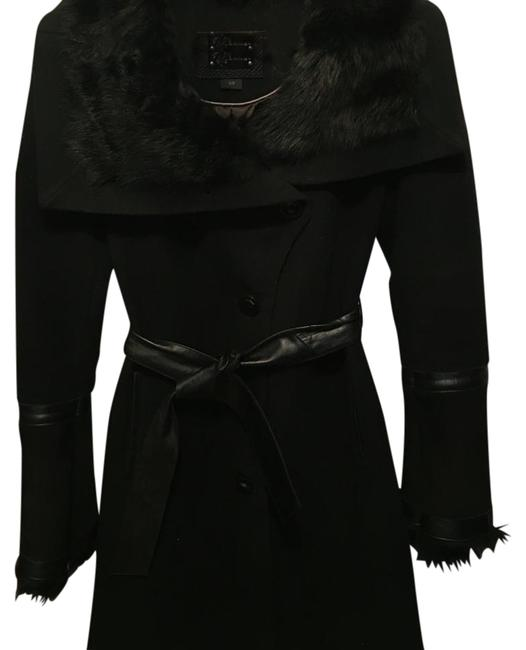 Item - Black Wool Blend And Coat Size 4 (S)