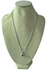 David Yurman Petite Albion Carnelian and Diamond Pendant Necklace