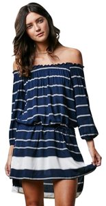 Faithfull the Brand short dress Navy Striped Off Navy Ots on Tradesy