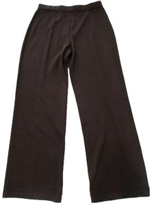 St. John Brown Elastic Waist Trouser Pants Amaretto