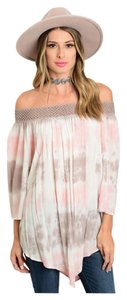 Bohemian Off Shoulder Tye Dye Tunic