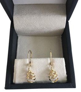 Blue Nile Blue Nile Diamond Drop Earrings in Yellow Gold