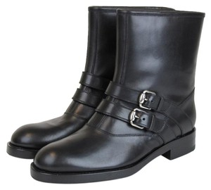 Gucci Margarett Leather Boot Black Boots