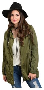 Other Utility Army Olive Green Hooded Military Jacket