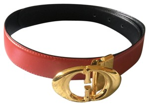 Gucci GG Red Leather Belt