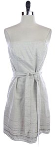 Ann Taylor LOFT Beaded Strapless Linen Dress
