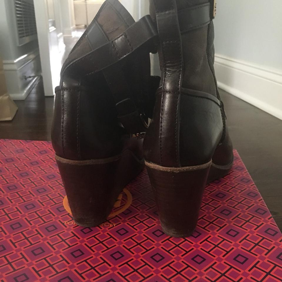 320be0d4360b Tory Burch Brown Primrose Wedge Boots Booties Size US 7 Regular (M ...