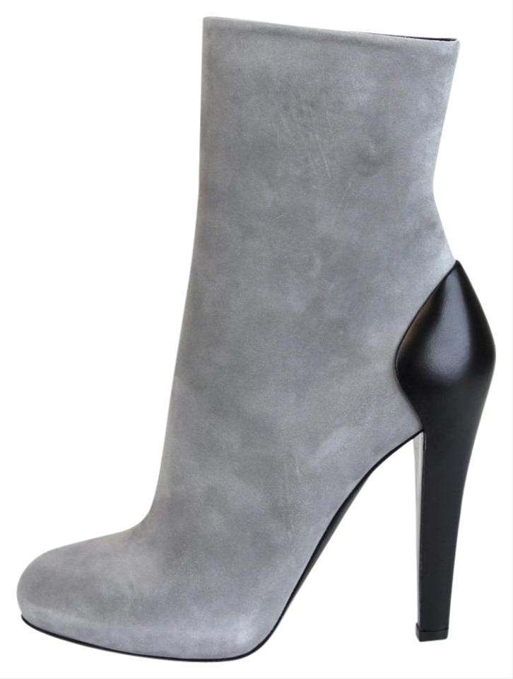 8930e9ffa Gucci Grey New Suede/Leather Ankle It 39.5 / 323556 1223 Boots ...