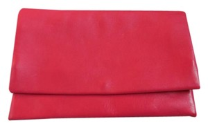 Leather Made In Italy Pink Clutch