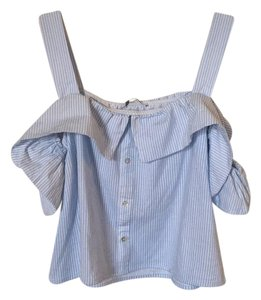 Zara Top Blue and white