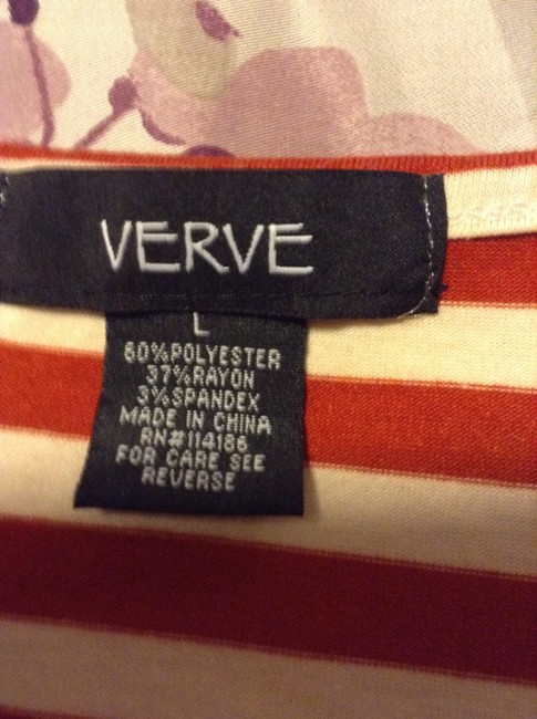 Verve Ami Top Red & White