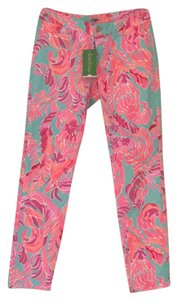 Lilly Pulitzer Skinny Pants Poolside Blue Lovebirds