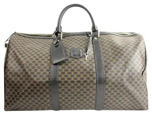 Céline Duffle Damier Damier Graphite Travel Bag