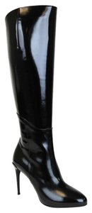 Gucci Patent Leather Heel Black Boots