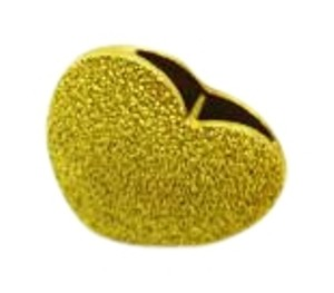 Textured 14k Yellow Gold Heart Pendant, Gold Jewelry