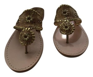 Jack Rogers Leather And Cork Natural Cork/Gold Sandals