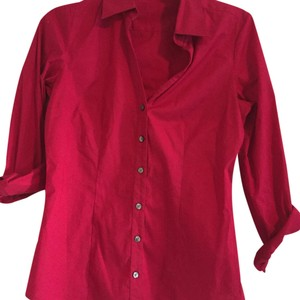 Express Button Down Shirt Cranberry
