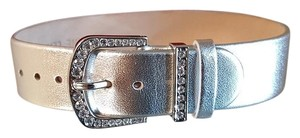 Victoria Wieck Gorgeous Silver Leather Bracelet by Victoria Wieck Beverly Hills