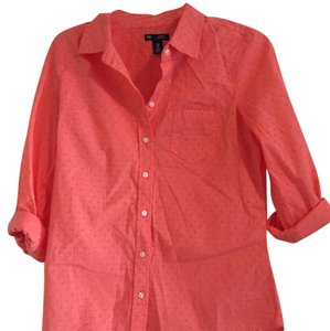 Gap Button Down Shirt Salmon